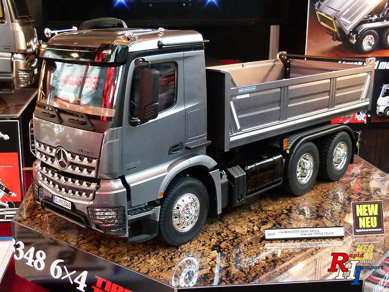 The new Tamiya truck 1:14 RC MB Arocs 3348 Hinterkipper 3Achs