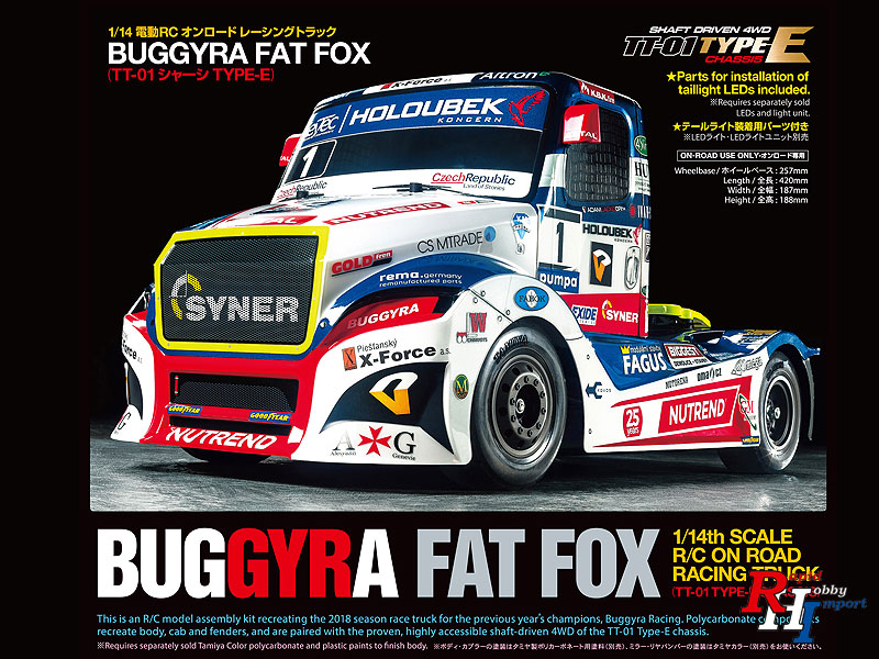 58661 1/14 R/C Buggyra Racing Fat Fox (TT-01 Type-E)