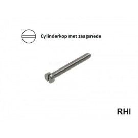 Cylinderschroef 1,0 x 5mm Din 84