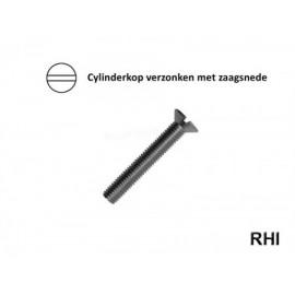 Verzonken cylinderschroef M2x6 A2