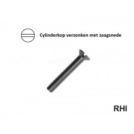 Verzonken cylinderschroef M3x10 A2