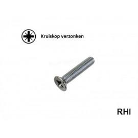Pozidriv Countersunk screw M4x12 A2
