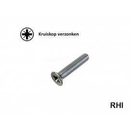 Pozidriv Countersunk screw M5x25 A2