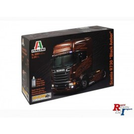 3897 1:24 Scania R730 V8 Black Amber