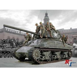 6568 1/35 M4A1 Sherman with U.S.Infantry