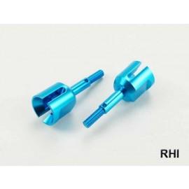 Wielassen (2) Blauw alu passend voor TT-