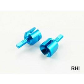 Diff-cups (2) Blauw alu passend voor TT-