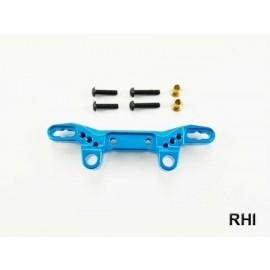 Demperbrug voor en achter Blauw alu TT02