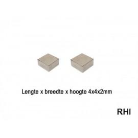 Magneten 4x4x2mm (2)