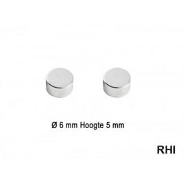 Magneten rond Ø6x5mm (2st)
