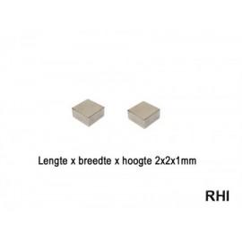 Magneten 2x2x1mm (2)