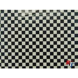 Checker Sticker schwarz/Weiß