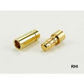 830230-1, Goudstekker 8mm 1 paar