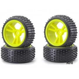 900074 1/10 Spike Banden/velgenset neon