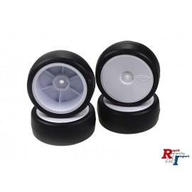 Reifen/Felgenset soft(4)Dish weiß Ø 64mm