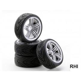 900535 1/10 SC-wheelset 6D Style zilver