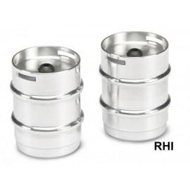 907098 1/14 aluminium biervat 2stuk