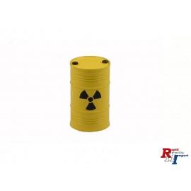 1/14 Alu Fass Atom gelb pulverbesch.