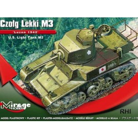 Mirage 726072 1/72 WWII S. Light Tank M3