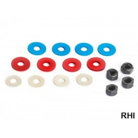 53448, 4mm Hard Lock Nut & Spacer (16)