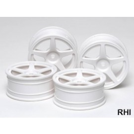 53471, 1/10 5-Spoke Wheels white 24mm