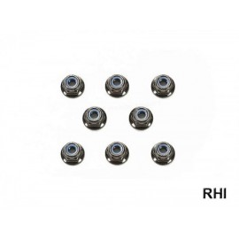 54642, RC 4mm Flange Lock Nut - Black /