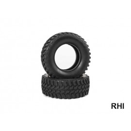 54735, RC Mud Block Tires - CC-01/2pcs