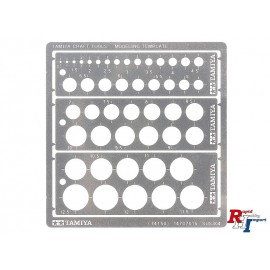 74150 Modeling Template Round 1-12.5mm