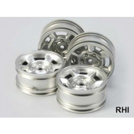 9335460, 1/10 Wheels silver 26mm (4)
